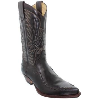 Chaussures Homme Bottes ville Sendra boots Santiag  Snowbut en cuir ref_sen18301-064-marron Marron