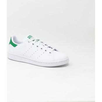 Chaussures Baskets basses adidas Originals STAN SMITH J BLANC/VERT Vert