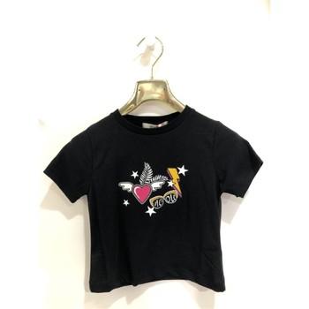 Vêtements Fille T-shirts manches courtes Vicolo 3146M0379 T-shirt Enfant NOIR NOIR