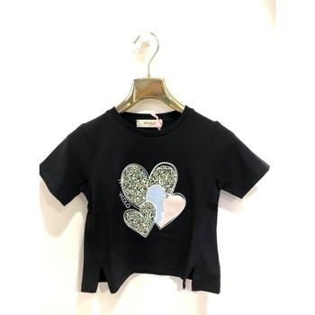 Vêtements Fille T-shirts manches courtes Vicolo 3146M0366 T-shirt Enfant NOIR NOIR