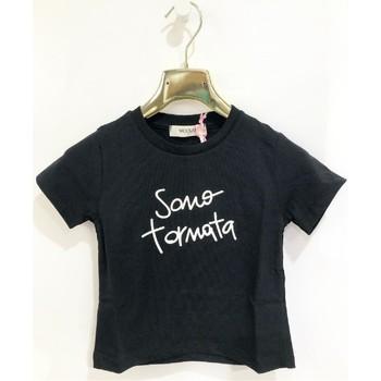 Vêtements Fille T-shirts manches courtes Vicolo 3146M0384 T-shirt Enfant NOIR NOIR