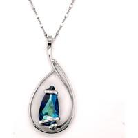Montres & Bijoux Femme Colliers / Sautoirs Andrea Marazzini Collier Andre Marazzini Elegant Bermuda Blue Blanc