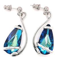 Montres & Bijoux Femme Boucles d'oreilles Andrea Marazzini Boucles  Elegant Bermuda Blue Blanc