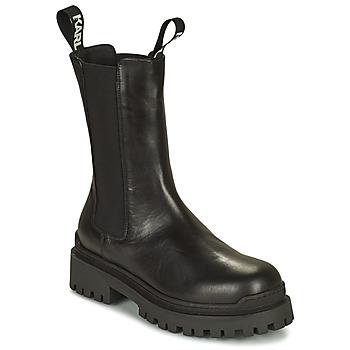 Chaussures Femme Boots Karl Lagerfeld BIKER II LONG GORE BOOT Noir