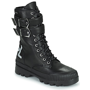 Chaussures Femme Boots Karl Lagerfeld TREKKA II HI CUFF BUCKLE BOOT Noir