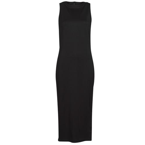 Vêtements Femme Robes courtes Karl Lagerfeld KITTED WRAP DRESS Noir