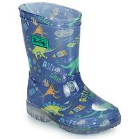 Chaussures Garçon Bottes de pluie Be Only DINO FLASH Bleu / Vert