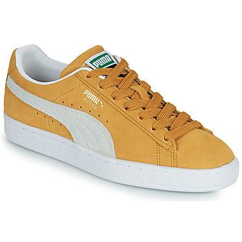 Chaussures Baskets basses Puma SUEDE Jaune / Blanc