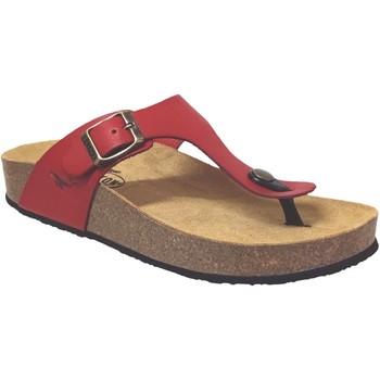 Chaussures Femme Tongs Plakton Cp bolero Rouge cuir