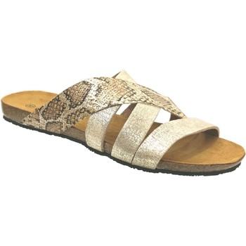 Chaussures Femme Mules Plakton Man perla Platine métallisé