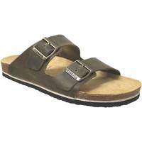 Chaussures Homme Mules Plakton Barna Kaki cuir