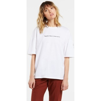 Vêtements Femme T-shirts manches courtes Volcom Schnips Tee White