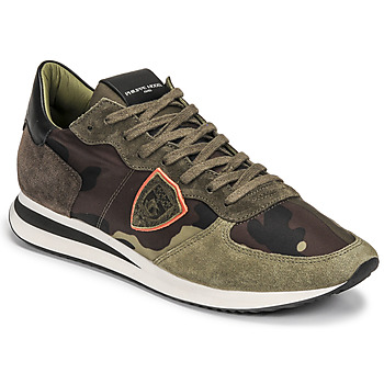 Chaussures Homme Baskets basses Philippe Model TRPX LOW MAN Kaki