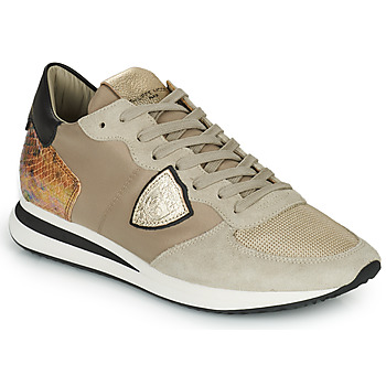 Chaussures Femme Baskets basses Philippe Model TRPX LOW WOMAN Taupe