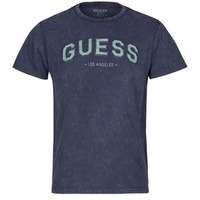 Vêtements Homme T-shirts manches courtes Guess GUESS COLLEGE CN SS TEE Marine