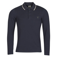 Vêtements Homme Polos manches longues Guess OLIVER LS POLO Marine