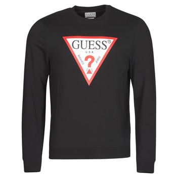 Vêtements Homme Sweats Guess AUDLEY CN FLEECE Noir