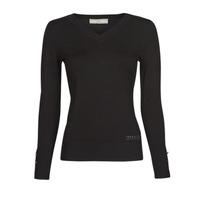 Vêtements Femme Pulls Guess GENA VN LS SWTR Noir