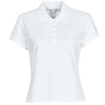 Vêtements Femme Polos manches courtes Guess ES SS GUESS LOGO PIQUE POLO Blanc