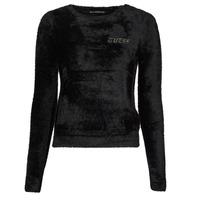 Vêtements Femme Pulls Guess CANDACE RN LS SWTR Noir