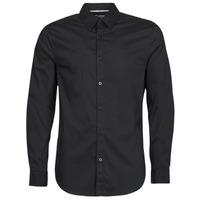 Vêtements Homme Chemises manches longues Guess LS SUNSET SHIRT Noir
