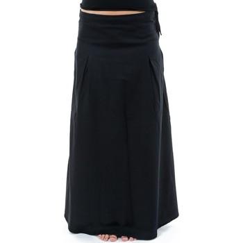 Vêtements Femme Jupes Fantazia Jupe longue coton doux Eclipse Noir
