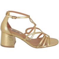 Chaussures Femme Sandales et Nu-pieds Bibi Lou Sandale à Talon Brides Fines Or