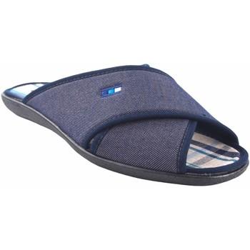 Chaussures Homme Mules Neles Rentrer à la maison gentleman  C70-14711 bleu Bleu