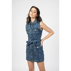 Vêtements Femme Blousons Toxik3 Robe poches cargo Bleu jean