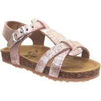 Chaussures Fille Sandales et Nu-pieds Plakton Paula Rose métallisé