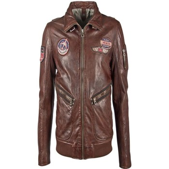 Vêtements Homme Vestes en cuir / synthétiques Gipsy PIPER STUV CHESNUT Chesnut