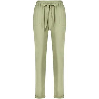 Vêtements Femme Pantalons fluides / Sarouels Deeluxe Pantalon ELIDA Light Khaki