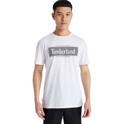 Vêtements Homme T-shirts manches courtes Timberland Tfo yc ss graphic Blanc