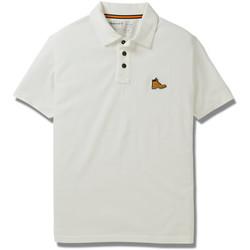 Vêtements Homme Polos manches courtes Timberland Logo bottine Blanc