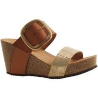 Chaussures Femme Sandales et Nu-pieds Reqin's QUETZAL CROCO OR