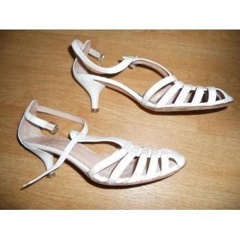 Chaussures Femme Escarpins Heyraud Chaussures d'été cuir heyreaud P37 Blanc