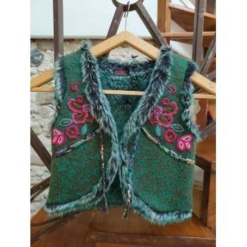 Vêtements Fille LA MODE EST A VOUS Catimini Gilet Catimini Vert