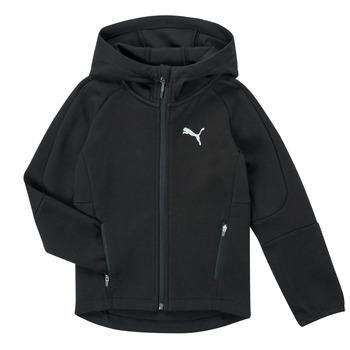 Vêtements Garçon Sweats Puma EVOSTRIPE FZ HOODED JACKET Noir