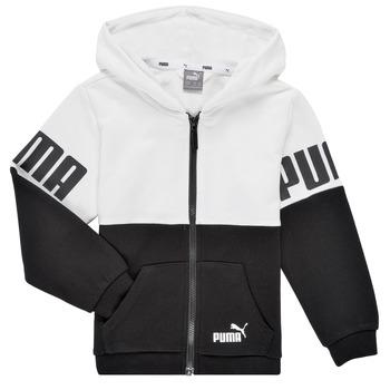 Vêtements Garçon Sweats Puma PUMA POWER FZ HOODIE Noir / Blanc