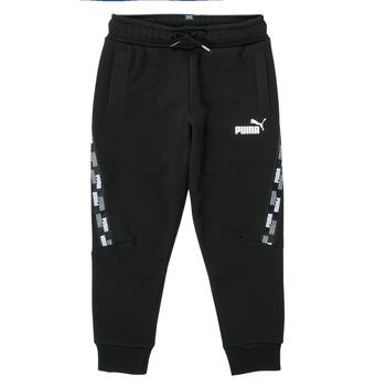 Vêtements Garçon Pantalons de survêtement Puma PUMA POWER TAPE PANT Noir