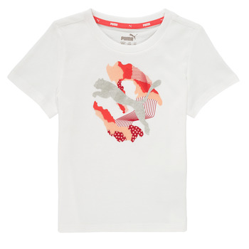 Vêtements Fille T-shirts manches courtes Puma ALPHA TEE Blanc