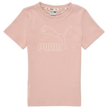 Vêtements Fille T-shirts manches courtes Puma T4C TEE Rose