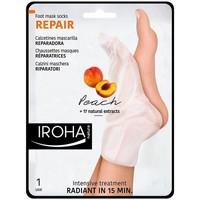 Beauté Soins mains et pieds Iroha Nature Peach Foot Mask Socks Repair