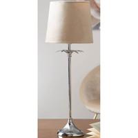 Maison & Déco Lampes à poser Retro Lampe de table Bashia argentée et Beige Argenté