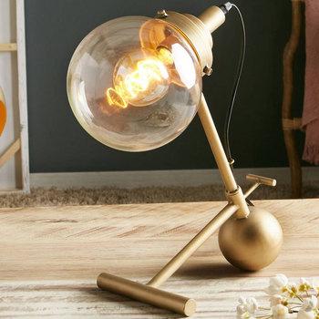 Maison & Déco Lampes à poser Retro Lampe de table Dawa en métal Or Doré