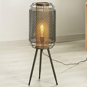 Maison & Déco Lampes à poser Retro Lampe de table KEIKO en métal Gris Gris