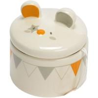 Maison & Déco Enfant Paniers, boites et corbeilles Le Monde Des Animaux Petite boite à dents de lait - Blanc Beige