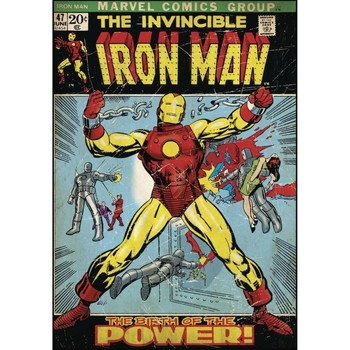 Maison & Déco Enfant Stickers Iron Man Grand sticker  70 x 87 cm Bleu