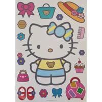 Maison & Déco Enfant Stickers Hello Kitty Sticker Deco Géant  Biscuit Rose