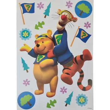 Maison & Déco Enfant Stickers Disney Sticker Deco Winnie et tigrou Jaune